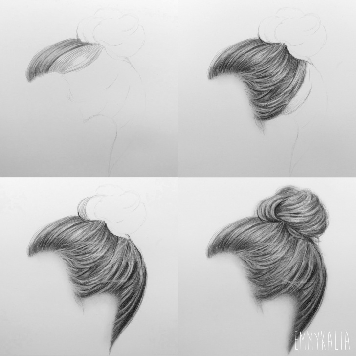 Fantastic Pencil Sketches For Beginners Step By Step Tutorial Pin By Wendy Smith On Ballet Drawings | How To Draw Hair, Drawings, Art Image