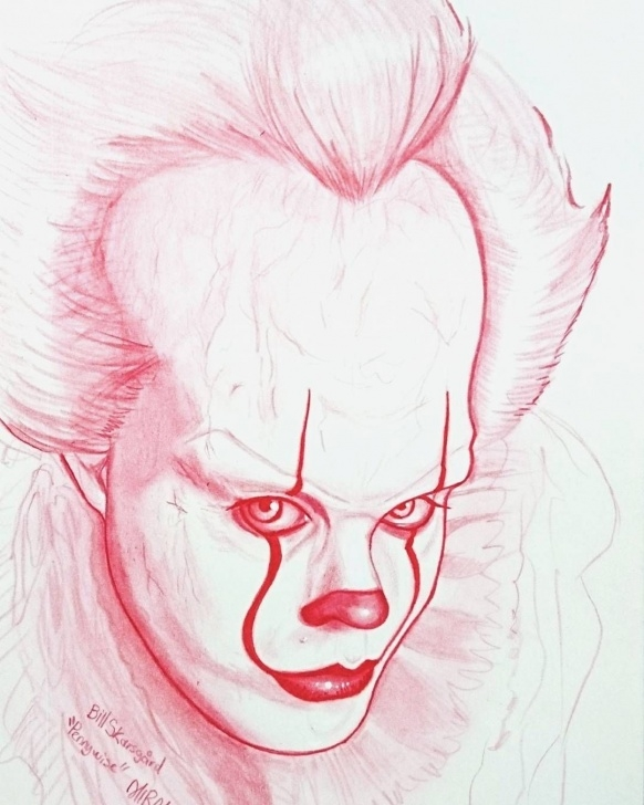 Fantastic Pennywise Pencil Drawing Lessons Pennywise Drawing | Drawing | Joker Drawings, Drawings, Horror Drawing Pics