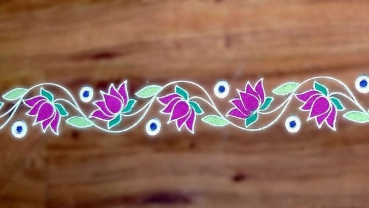 Fantastic Rangoli Design Stencils Online Lessons Beautiful Border Rangoli Design With Stencils For Pongal/sankrant By  Meartist.in 1 Images