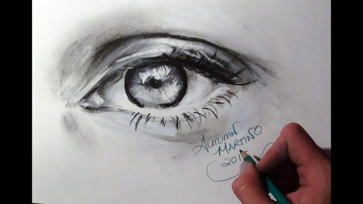 Fantastic Realistic Charcoal Drawing Lessons Realistic Charcoal Drawing Of An Eye (Time Lapse) Images