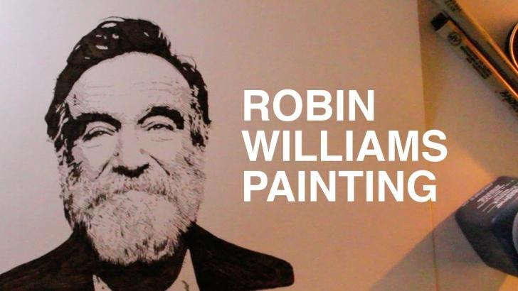 Fantastic Robin Williams Stencil Tutorial Robin Williams Portrait Painting Picture