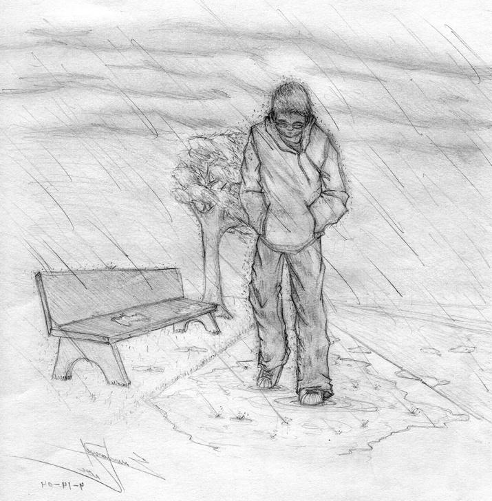 Fantastic Sad Boy Pencil Art Tutorial Wallpaper Sketch Pic Sad Drawing Alone Boy Wallpaper - Alone Boy Sad Picture