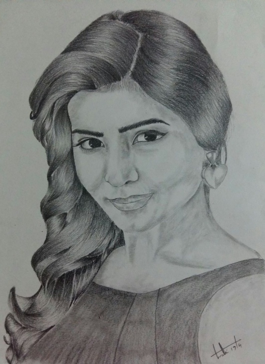 Samantha Pencil Drawing