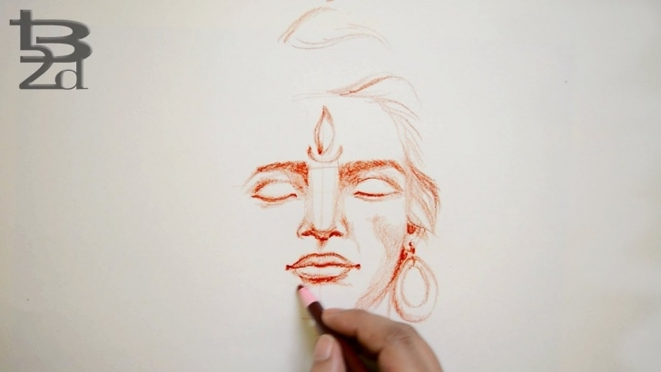 Fantastic Shiva Pencil Art Techniques How To Draw Face | Lord Shiva Face Pencil Sketch | Step By Step | Born2Draw Pictures