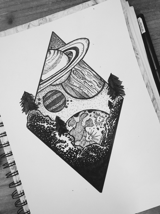 Space Pencil Drawing