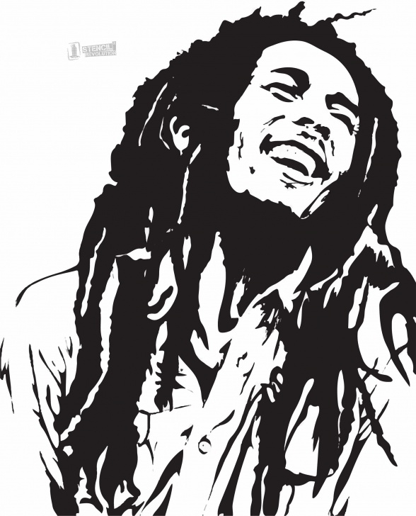Fantastic Stencil Art Black And White Lessons Bob Marley Stencil For Crafts & Walls | Stencils | Bob Marley Art Pics