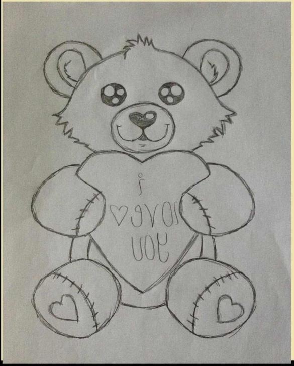 Fantastic Teddy Bear Pencil Sketch Tutorials Pencil Sketch Of Teddy Bear At Paintingvalley | Explore Image