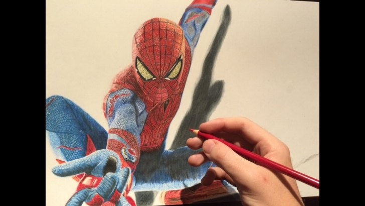 Fantastic The Amazing Spider Man Drawing In Pencil Techniques for Beginners How To Draw The Amazing Spiderman - Drawing Time Lapse Photo
