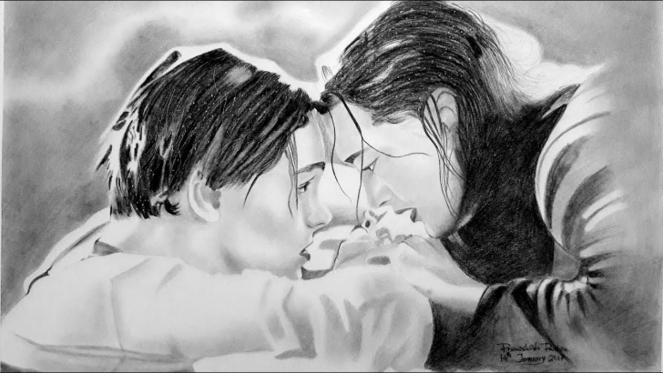 Fantastic Titanic Pencil Drawing Tutorial Titanic : Pencil Drawing || Kate Winslet || Leonardo Dicaprio || Realistic  Drawing Pictures
