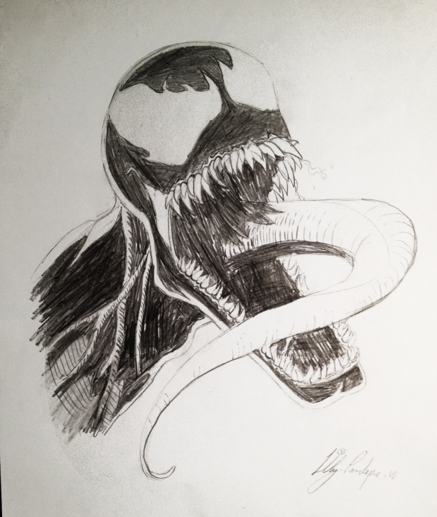 Fantastic Venom Pencil Art Courses Venom Pencil Drawing Image