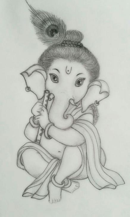 Fantastic Vinayagar Pencil Sketch Techniques for Beginners Sri Ganesha Pencil Sketch.. | Sri Ganesh Art | Ganesha Sketch Photo