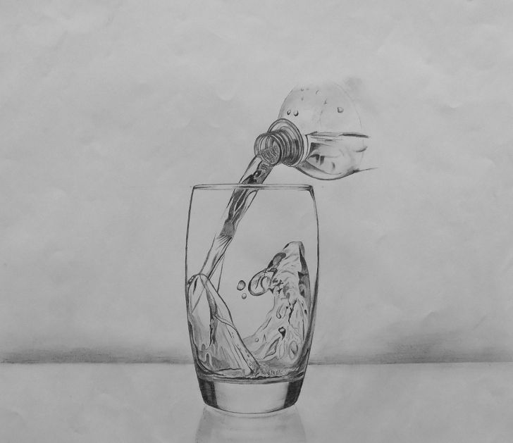 Fantastic Water Pencil Sketch Step by Step Sourcewing: Pencil Drawing Of Water Being Poured Into Glass Picture