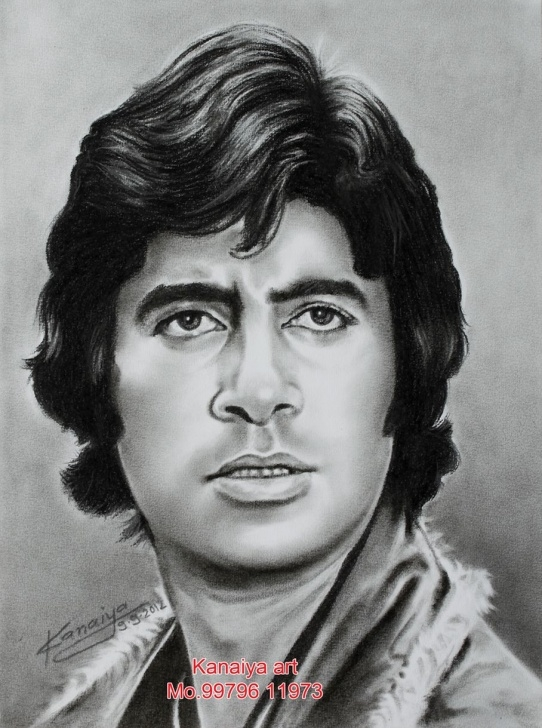 Amitabh Bachchan Pencil Sketch