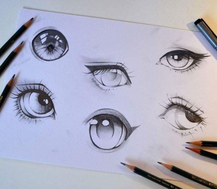 Fascinating Anime Eyes Pencil Techniques What's Your Favorite Pencil Eye? :) #pencil #eye #cute #kawaii Pics