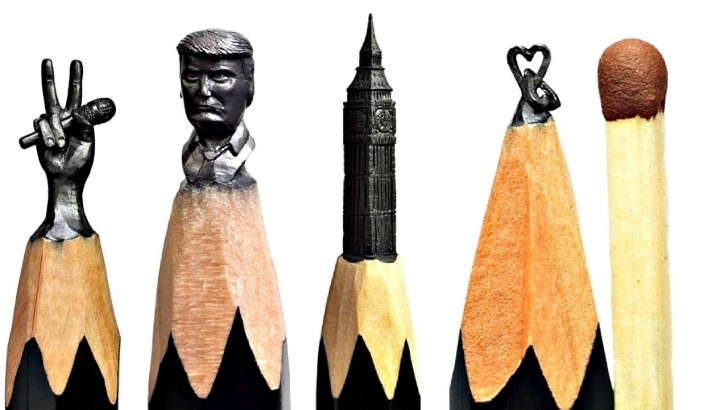 Fascinating Art On Pencil Easy Carving Big Ben On A Pencils Tip - Incredible Art On Pencil , Pencil  Carving [Video Worth Watching] Image