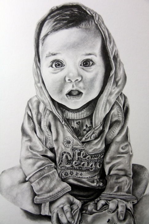 Fascinating Baby Drawings In Pencil Free Baby Child Art Portrait In Pencil Drawing By Iigurrydaddyii Image