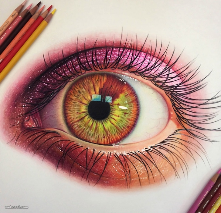 Fascinating Beautiful Colored Pencil Drawings Ideas 50 Beautiful Color Pencil Drawings From Top Artists Around The World Pics