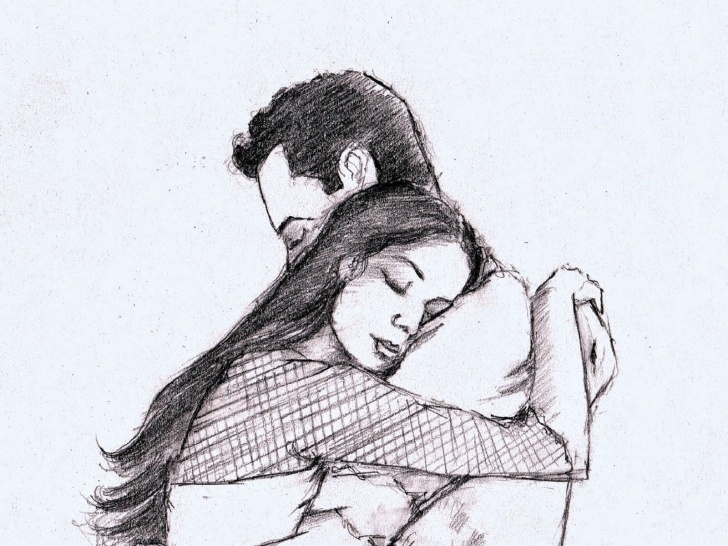 Fascinating Beautiful Love Sketches Free Love Sketch Pic At Paintingvalley | Explore Collection Of Love Pics