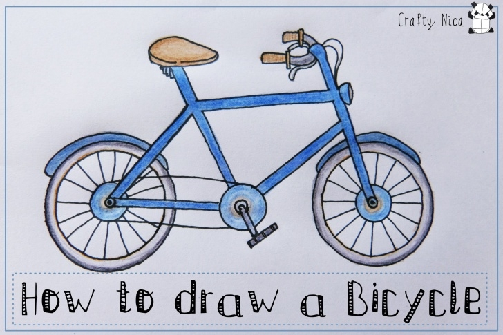 Fascinating Bicycle Pencil Drawing Easy Bike Drawing, Pencil, Sketch, Colorful, Realistic Art Images Images
