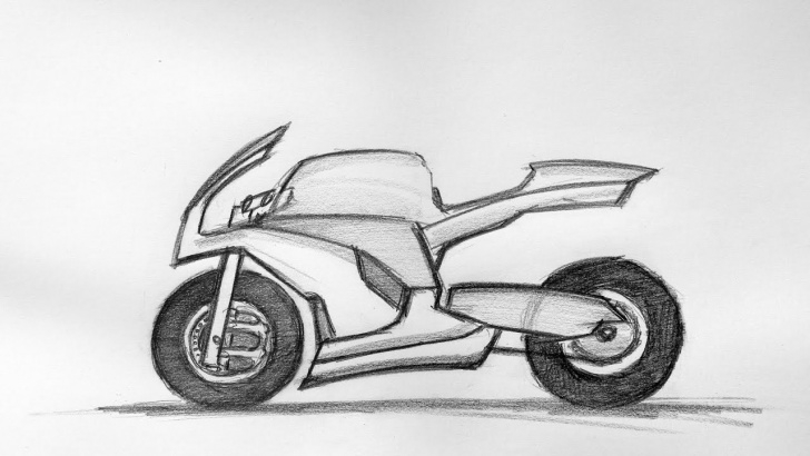 Fascinating Bike Pencil Drawing Courses Bike Sketch 22.08.2015 Photos