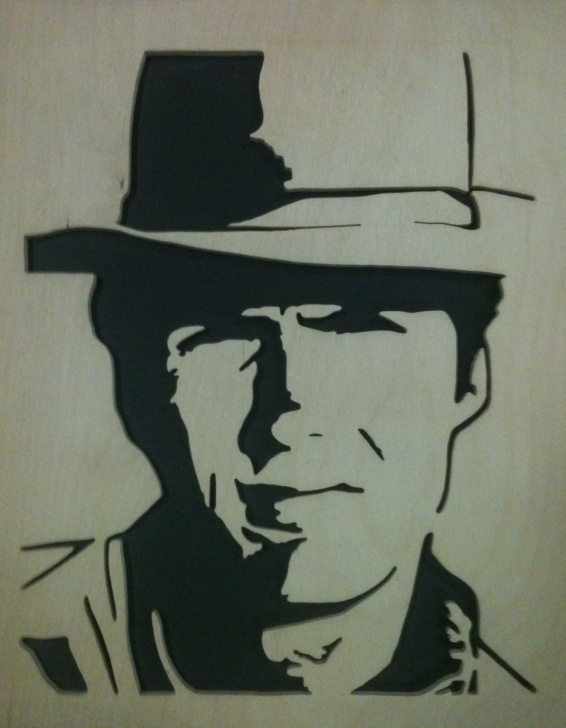 Fascinating Clint Eastwood Stencil Art for Beginners Clint Eastwood Fretwork Cutting | Saw Horse | Stencil Art, Scroll Images