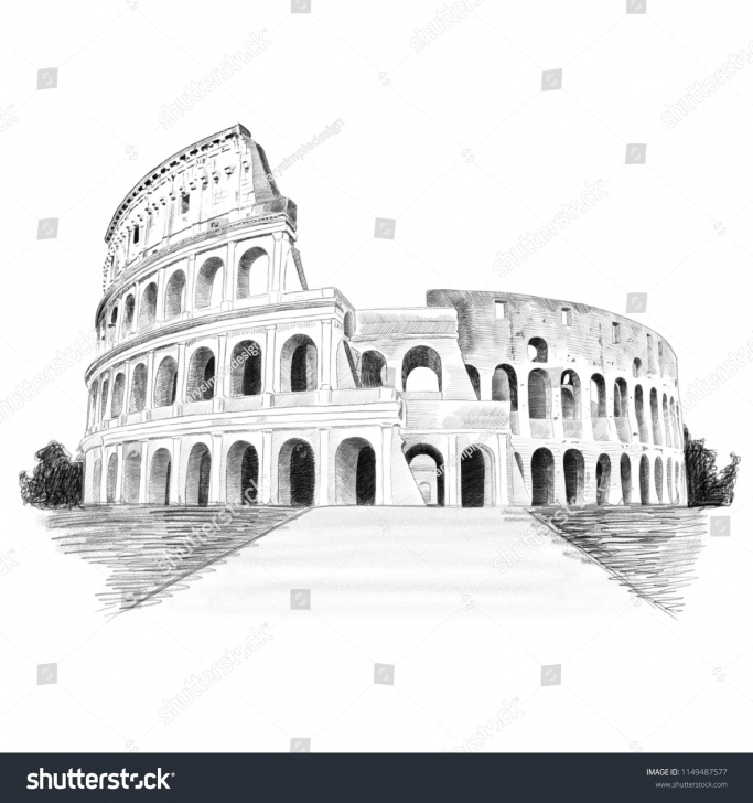 Fascinating Colosseum Pencil Sketch Free Rome Colosseum Pencil Sketch Illustration Stock Illustration 1149487577 Picture