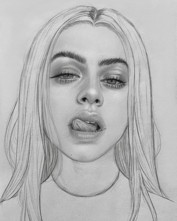 Fascinating Cool Portrait Drawings Tutorials Bitchy Portrait Drawing ?? ♀️ | Portrait Illustration In 2019 Pics