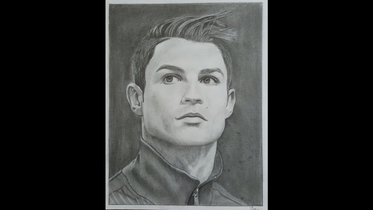 Fascinating Cr7 Pencil Drawing Ideas Realisctic Pencil Drawing Of Cristiano Ronaldo - Speed Drawing/ Time Lapse Pic