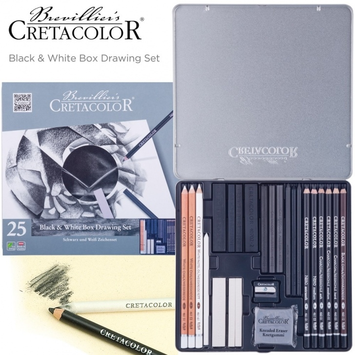 Fascinating Cretacolor Mega Graphite Techniques for Beginners Cretacolor Black & White Box Drawing Set Of 25 - Jerry's Artarama Pictures