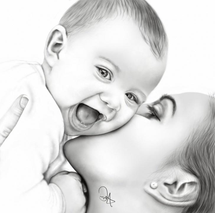 Fascinating Cute Baby Pencil Sketch Simple Cute Baby Pencil Sketch And Baby Pencil Sketch Pencil Sketch Of Baby Image