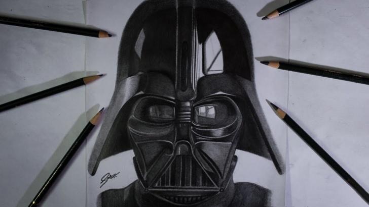 Fascinating Darth Vader Pencil Drawing Tutorials Star Wars Darth Vader Drawing | Pencil Sketch Image