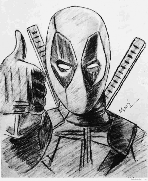 Fascinating Deadpool Pencil Drawing Easy Pencil Deadpool Sketch Pic