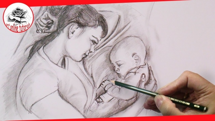 Fascinating Emotional Pencil Sketches Techniques Mother's Love: Drawing Emotions With Pencil, Step By Step, Easy Drawing  Techniques Pictures