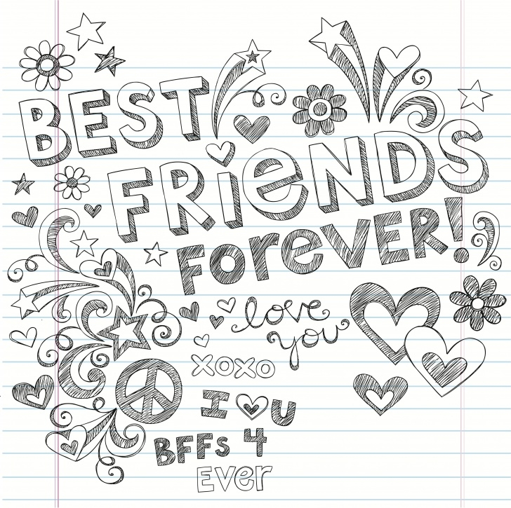 Fascinating Friendship Day Pencil Drawings Tutorial Cute Bff Doodle | My Bffs | Best Friend Drawings, Bff Drawings, How Photos