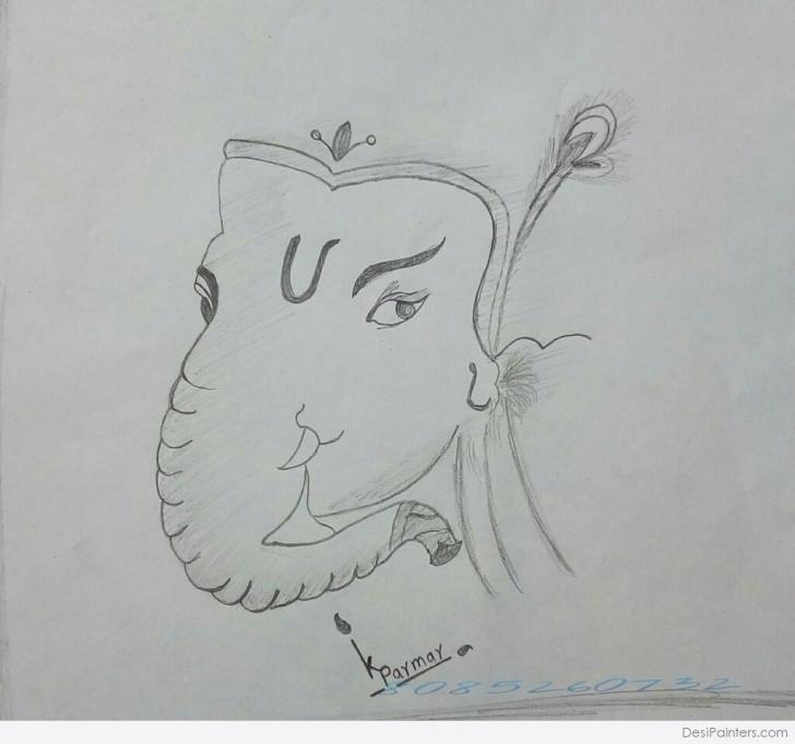 Fascinating Ganesh Ji Pencil Sketch Lessons Pencil Sketch Of Lord Ganesh Ji | Desipainters Pics