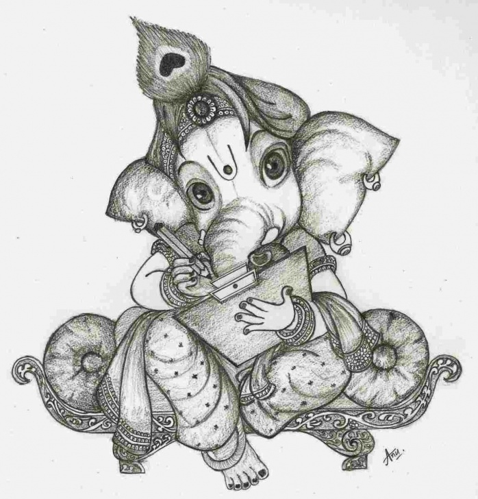 Fascinating Ganpati Pencil Sketch Easy Pencil Drawing Pictures Of Ganesh Pic