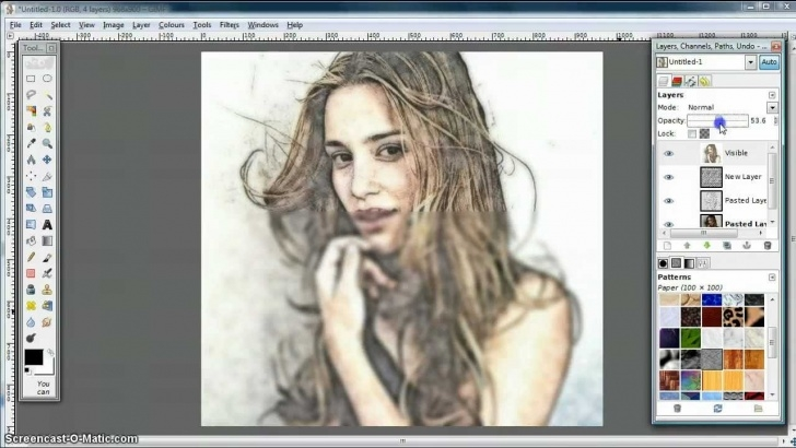 Fascinating Gimp Pencil Sketch Tutorial Gimp Tutorial - Turn Photo Into Soft Colour Pencil Drawing Picture