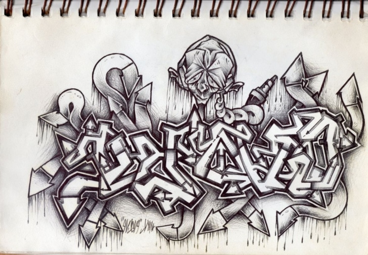 Fascinating Graffiti Art Pencil Easy Graffiti Pencil Drawing At Paintingvalley | Explore Collection Picture