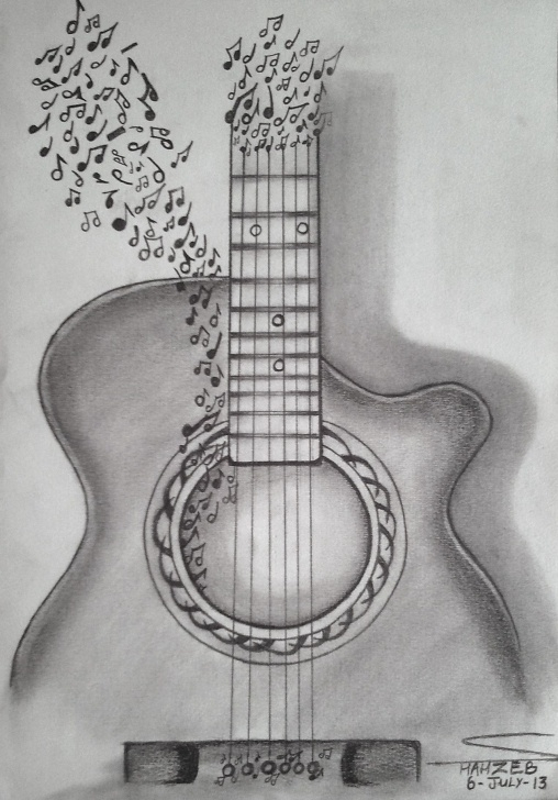 Fascinating Guitar Pencil Drawing Courses Pencil Art - Google Search … | Sketching In 2019… Photos