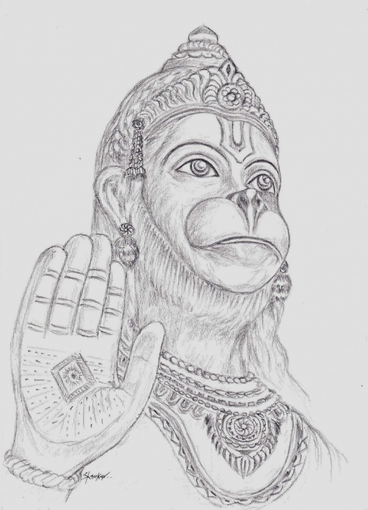 Fascinating Hanuman Pencil Sketch Simple Baby Hanuman Pencil Sketch And Hanuman Pencil Sketch Pencil Painting Picture