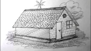 Fascinating House Pencil Sketch Tutorials How To Draw A House For Kids Pencil Drawing | Yzarts Pic