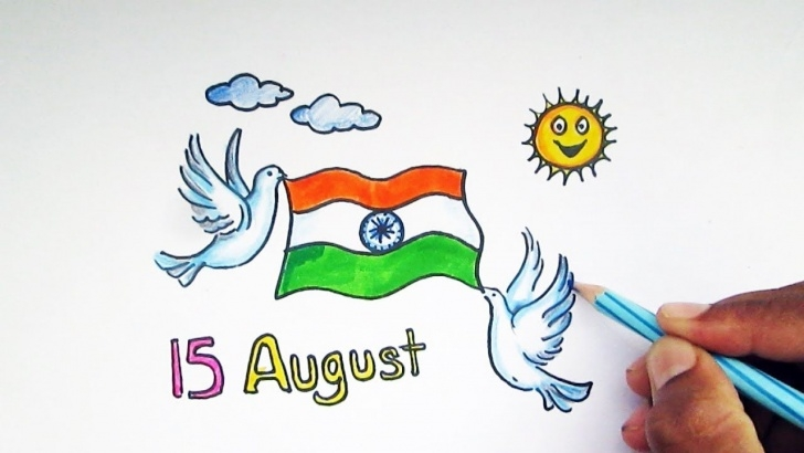 Fascinating Independence Day Pencil Sketch for Beginners Independence Day Drawing Pictures Images: All Kids And Schools Images