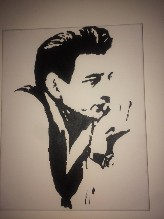 Fascinating Johnny Cash Stencil Art Techniques for Beginners Johnny Cash Black And White Pic