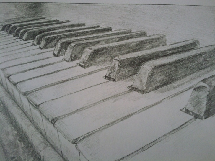 Fascinating Keyboard Pencil Drawing for Beginners Art By Phil Reilly At Coroflot. | Image File | Drawings, Pencil Art Pictures