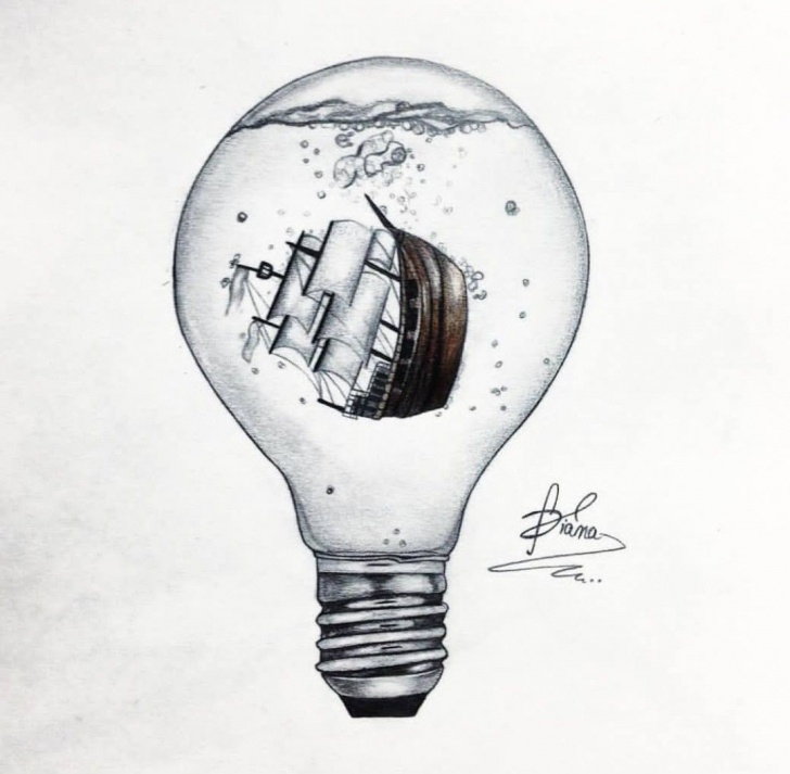 Fascinating Light Bulb Pencil Drawing Simple Lightbulb Tattoo - Google Search   Personal_Mojo In 2019   Light Pictures