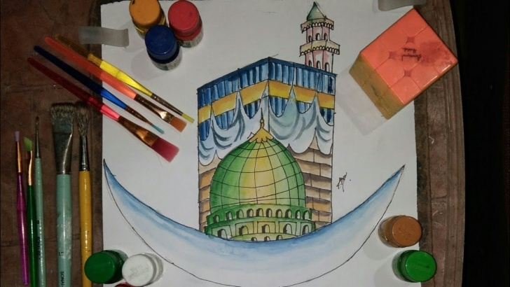 Fascinating Makka Madina Drawing Ideas Macca Drawing | Madina Drawing |How To Draw Macca & Madina ?? Images