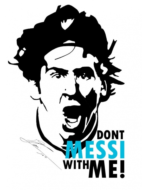 Fascinating Messi Stencil Art Free Don't Messi With Me! | Sports | Lionel Messi, Messi, Football Pic
