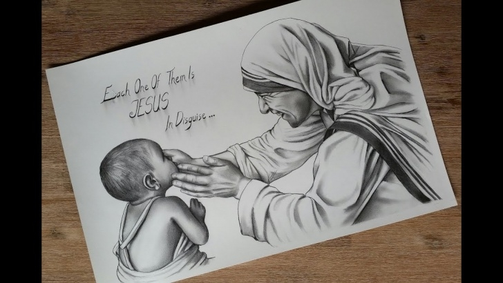 Fascinating Mother Teresa Pencil Drawing Techniques for Beginners Sketching Mother Teresa, Mother Of The Poor :) Picture