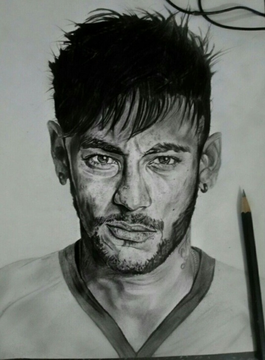 Fascinating Neymar Pencil Drawing Easy Pinterest Photo