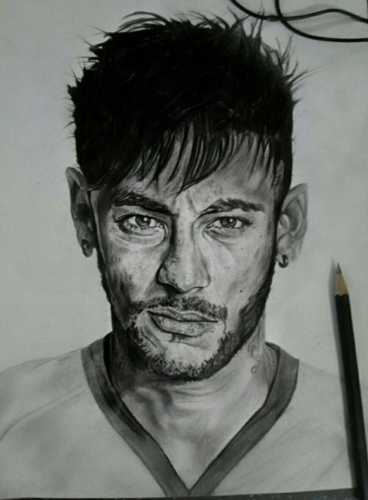 Fascinating Neymar Pencil Drawing Easy Pinterest Photo